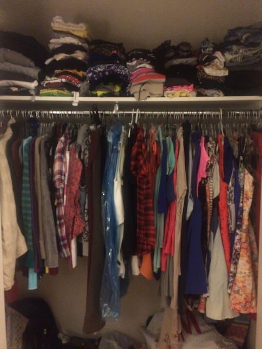 Closet will be empty.
