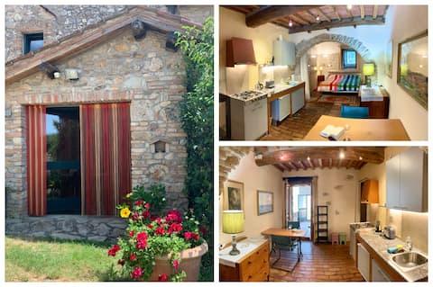 Apartamento romântico +piscina Siena 18km
