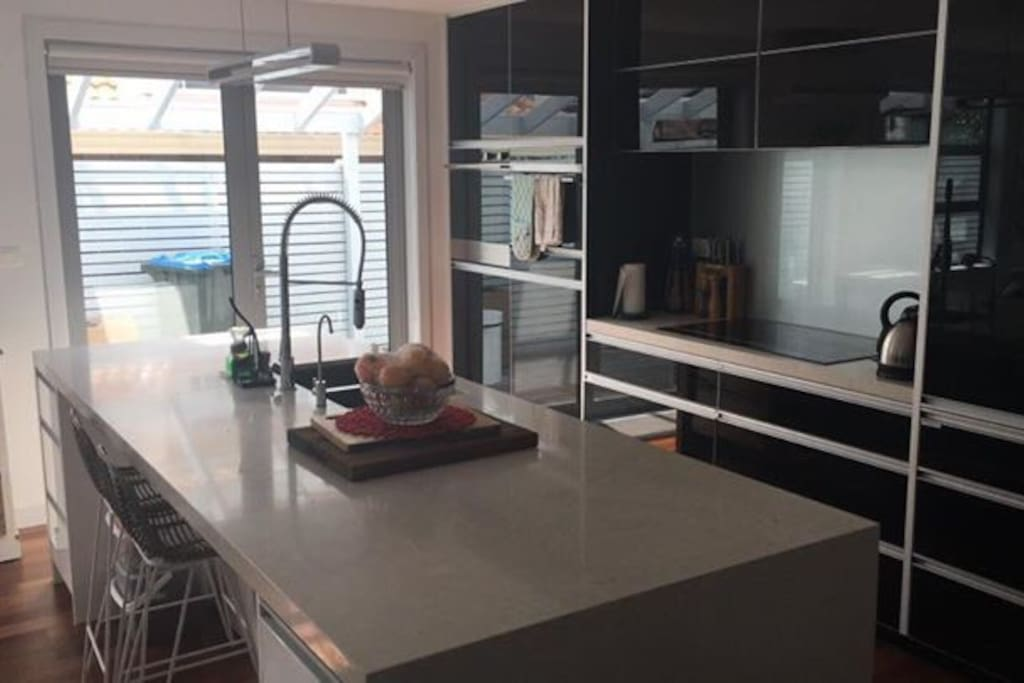 The kitchen is spacious, and is equipped with everything that is needed to cook or bake.