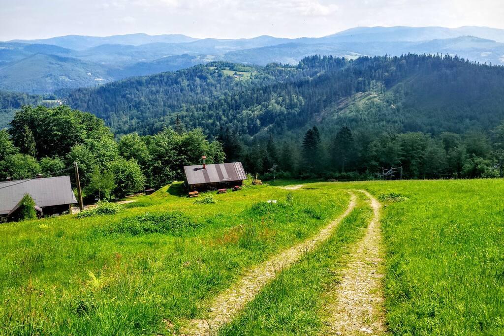 widok z Soszowa na Beskid Śląski
