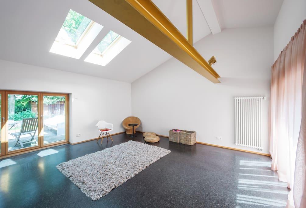 Aterlier/Wohnraum mit Bettsofa für 1-2 Personen