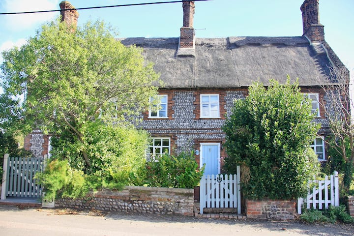 Harebell Cottage in coastal village