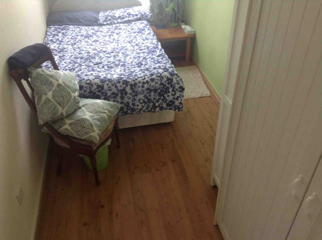 room has small double bed for single occupancy, or double occupancy at £10 a night more,  just ask when booking.
