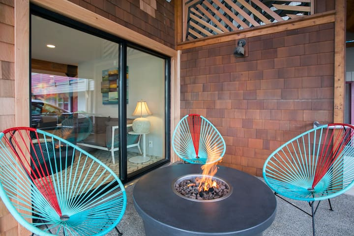 On-site fire pit
