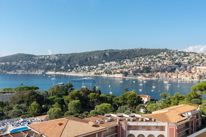 Luxurious flat up to 6 on Villefranche Bay
