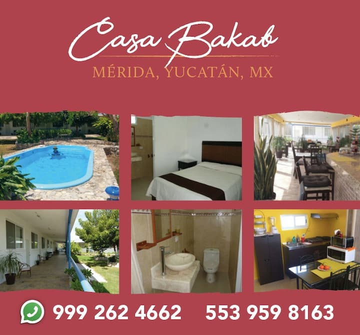 BAKAB Double Room - Con cocineta.