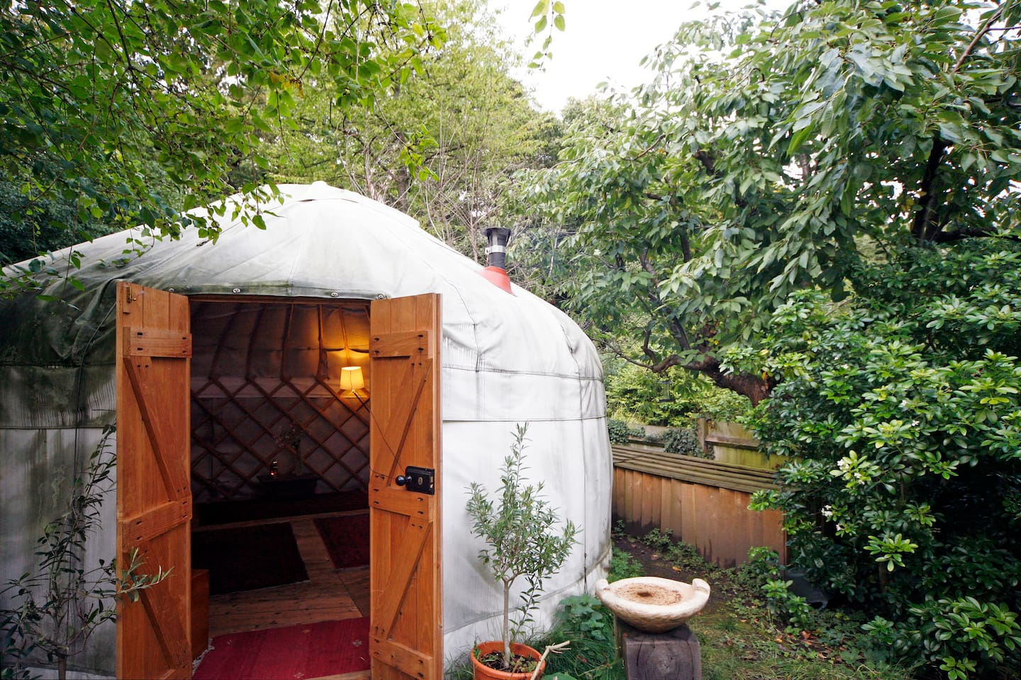 All yurts, even those made with yak covers, have solid wood doors.