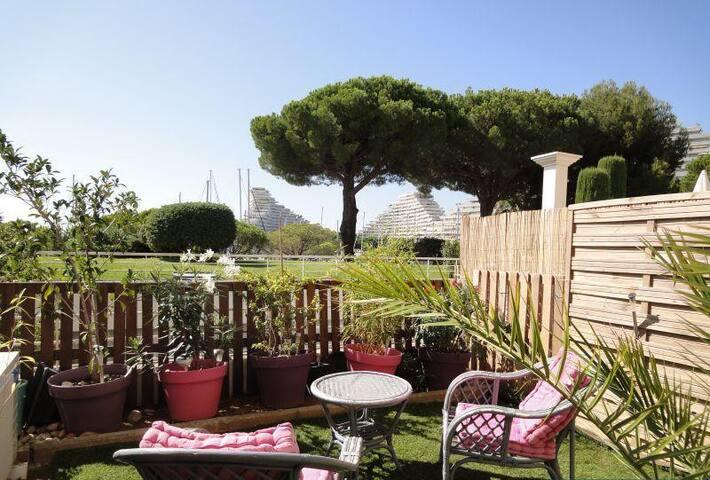 Studio jardin entre Nice et Cannes - Villeneuve-Loubet - Appartement