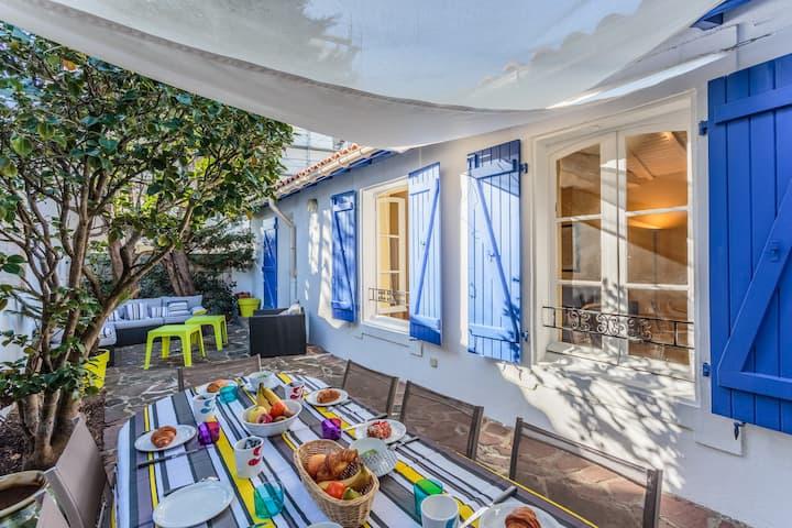 Villa familiale avec terrasse.Phare, plages & golf