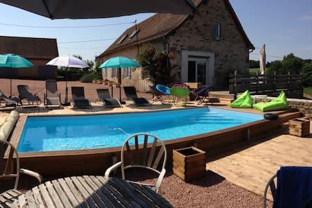 Gîte,pêche,piscine,sauna,salle musculation,étang. - Saint-Bonnet de Vieille vigne  - Dům