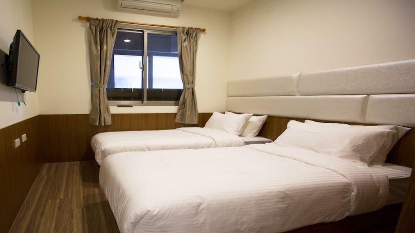 2床雙人房B·溫馨舒適·環境清幽·鄰近永寧捷運MRT交通便利