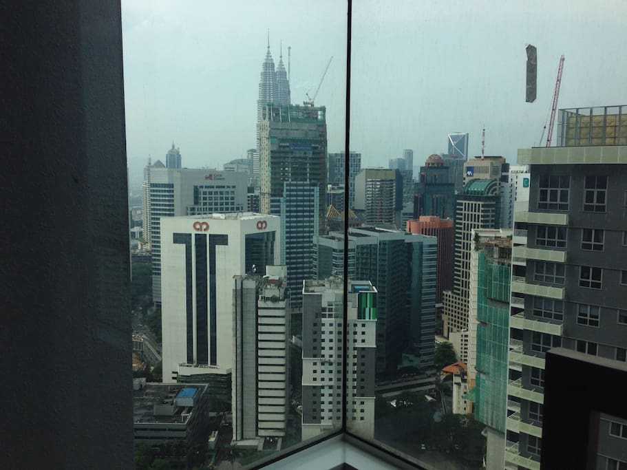 View from your room. The Petronas Twin Towers in the distance
