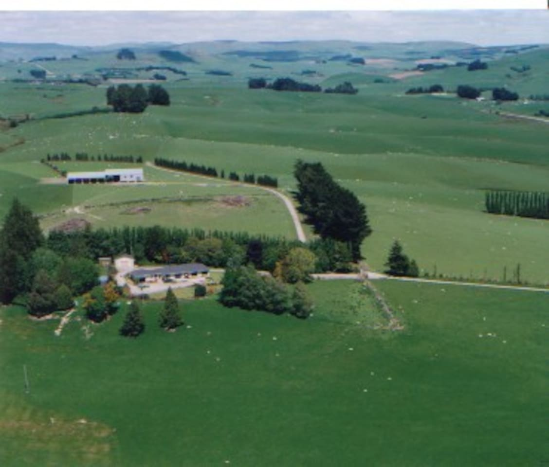 Aerial view of our farm