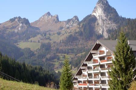 Swiss chalet-style flat w/ balcony - Torgon - Apartment