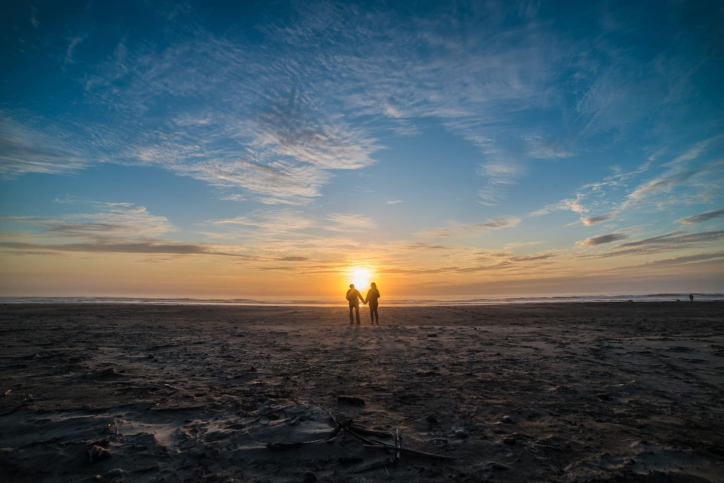 Holiday Beach at sunset