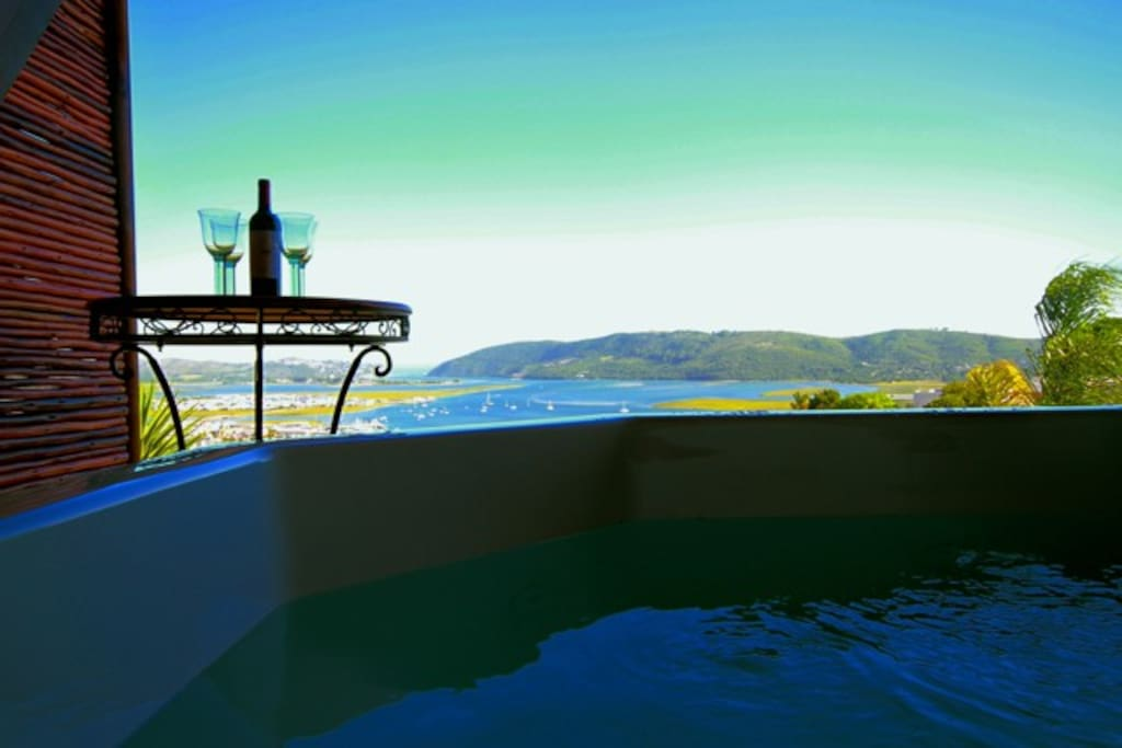Sit back and relax in the jacuzzi/hot tub and enjoy the amazing views