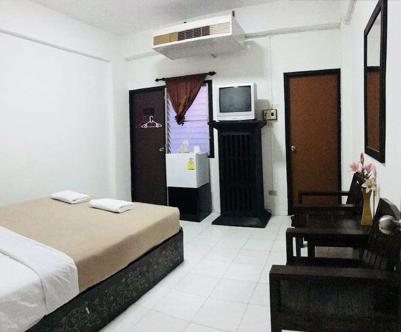 Comfortable room with king size bed.
