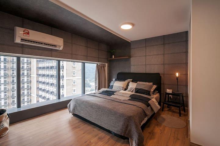 Bedroom with an abundance of natural lighting
