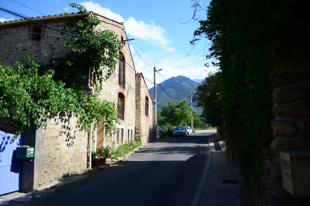 Located in a quiet village near the Pyrenees