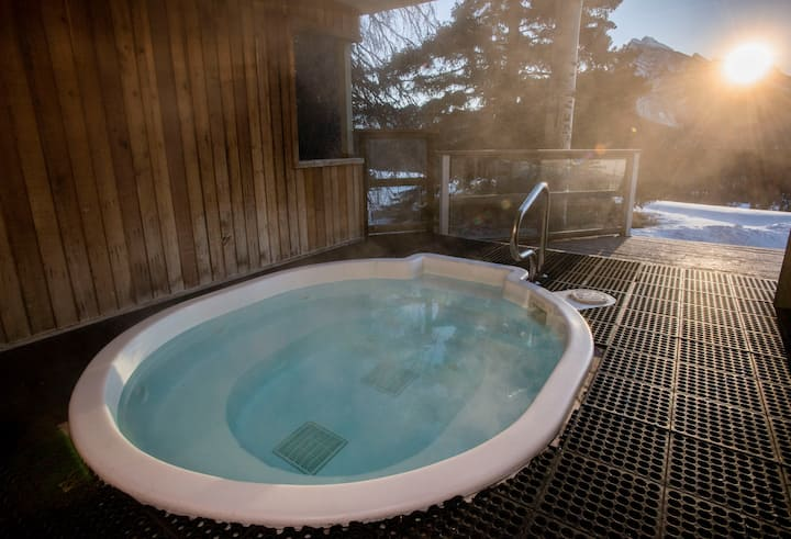 Cozy Living Space Near Norquay Mountain with Shared Fire Pit + Hot Tub Access