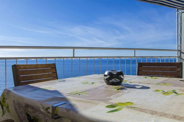 Egy hálószobás Apartman, közvetlen tengerparti, Murter - Murter sziget, Terasz