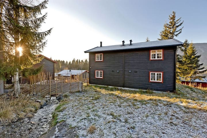 Cozy well placed cabin with ski in/out to Hafjell - Øyer - Houten huisje