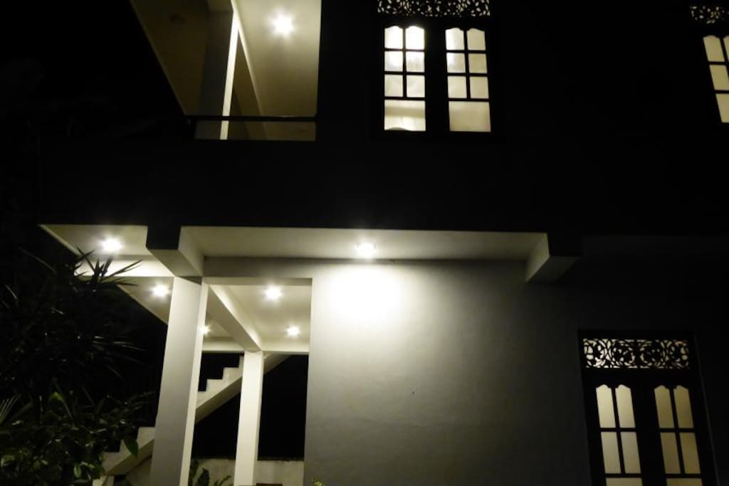 Night view of the cottage