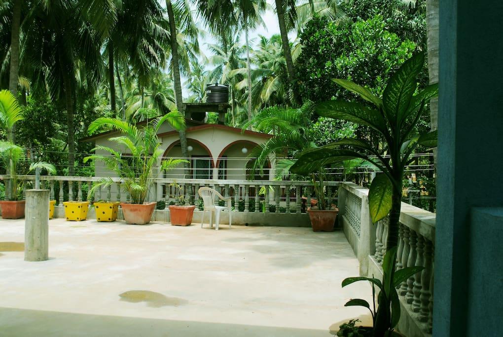Open terrace in front of room