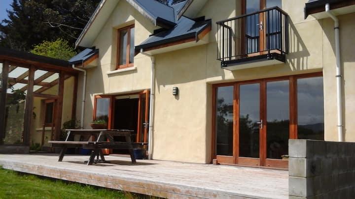 Straw Bale Eco-House with sea views