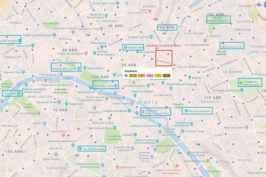 Location - Paris 10th 75010