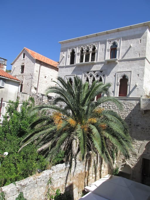 View on the famous Hektorovic palace, croatian poet ( XV century building)