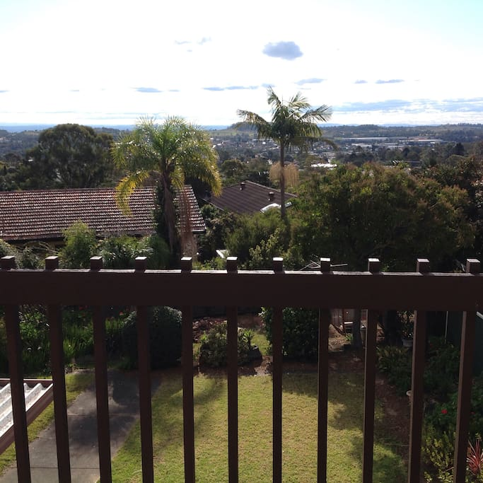 Our house has fantastic views with the blue mountains in the background.