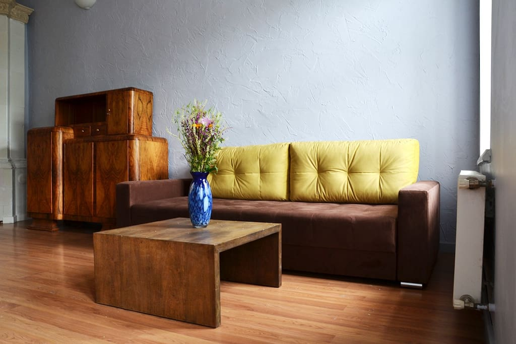 Sofa bed that folds out to a double bed