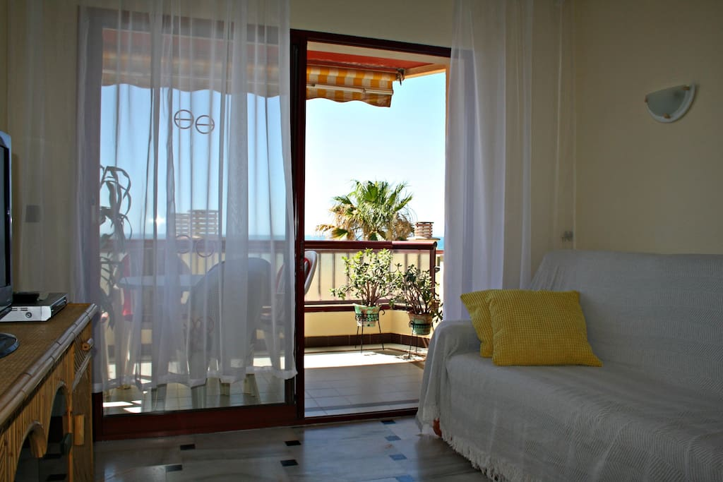Balcony with a Sea View (lower building in front of the balcony)