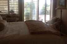 Master Suite with view of the yard