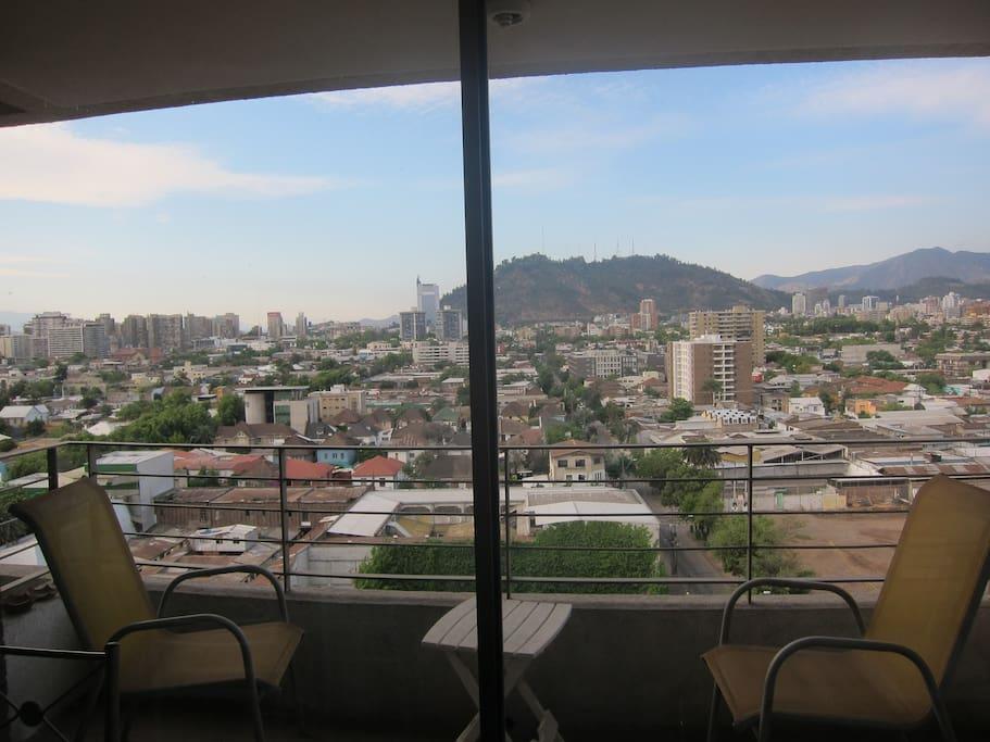 Views to Barrio Italia and Cerro San Cristobal