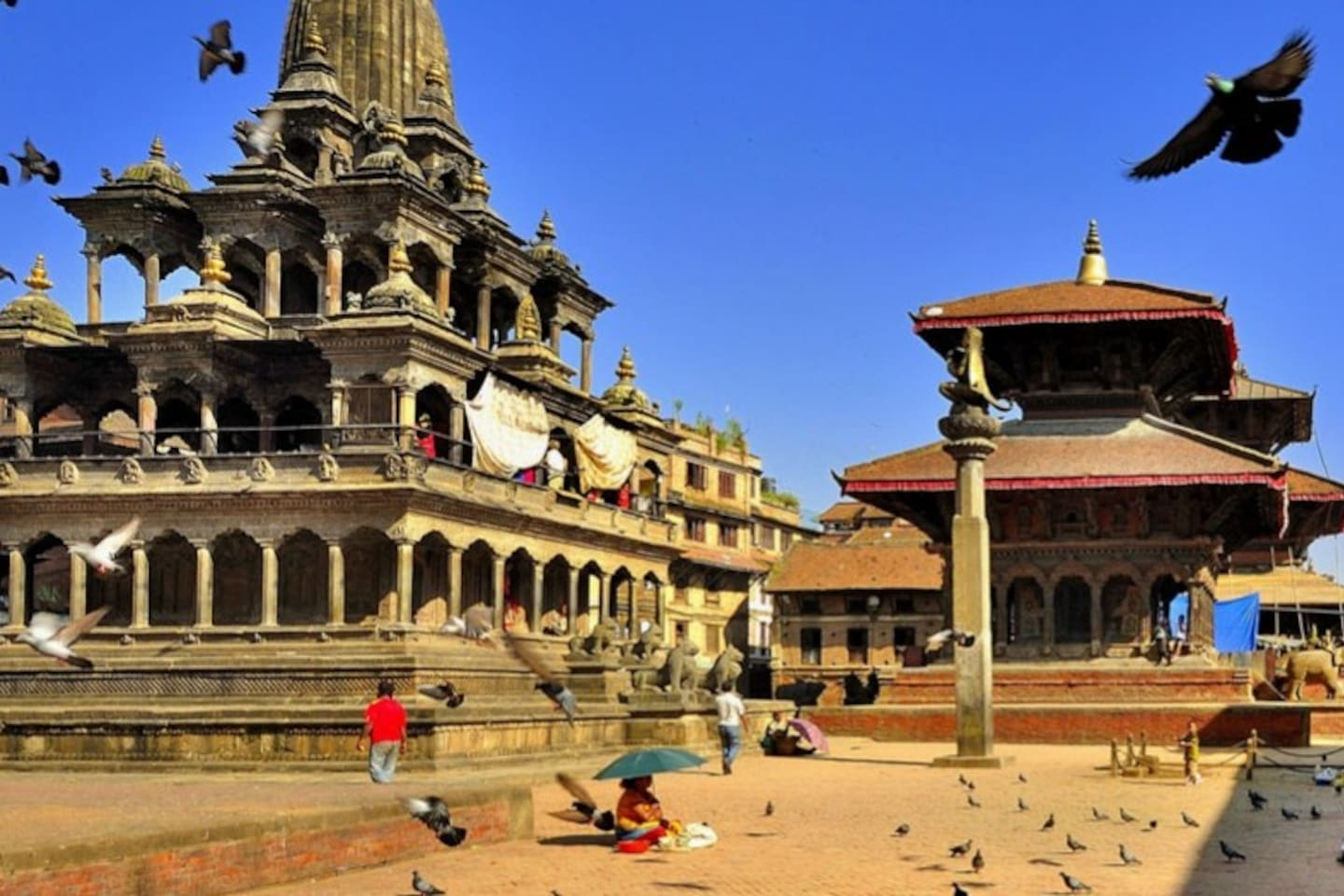 Patan, with its many temples and impressive buildings, is a great place for sight-seeing.