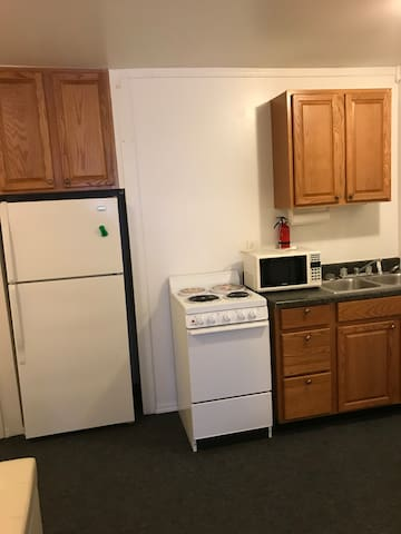 A kitchen is accessible to guest, however no cooking utensils are provided.