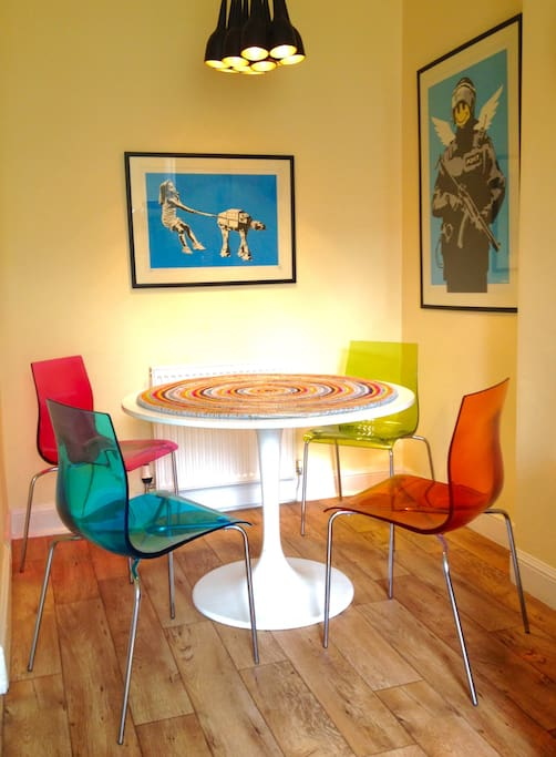 This is our Banksy dining area.