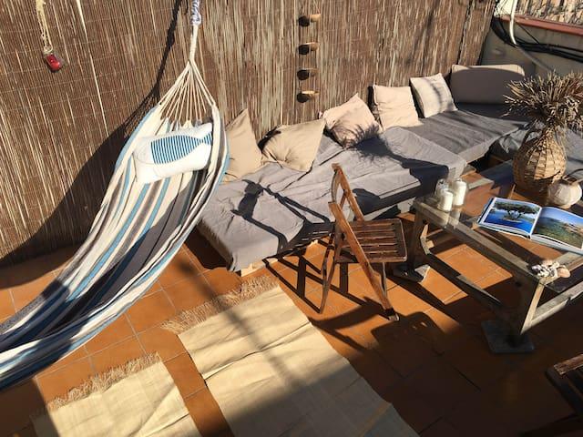 Beautiful apt double terrace center - Barcelone - Apartamento