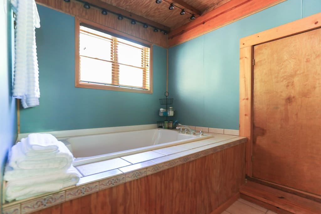 Master bath - jetted tub for two