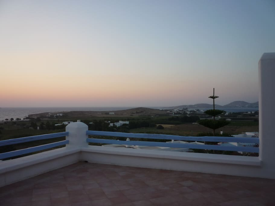 Panoramic sunset from the house terraces