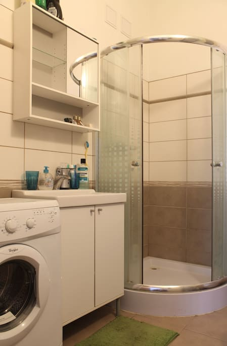 Small bathroom, but it has everything you need.