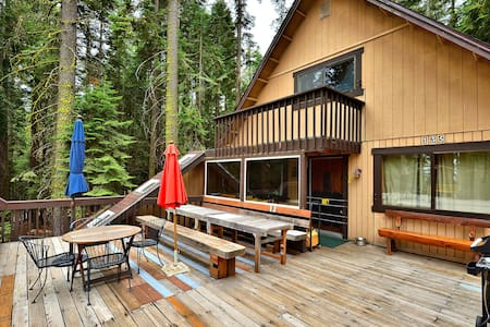 Our 2BR/1BA Cherry Street Cabin is a retro-rugged old-Tahoe cabin experience in an amazing location. We're just a short block to the lake on the gorgeous west shore and a two-block hop to public beach access!