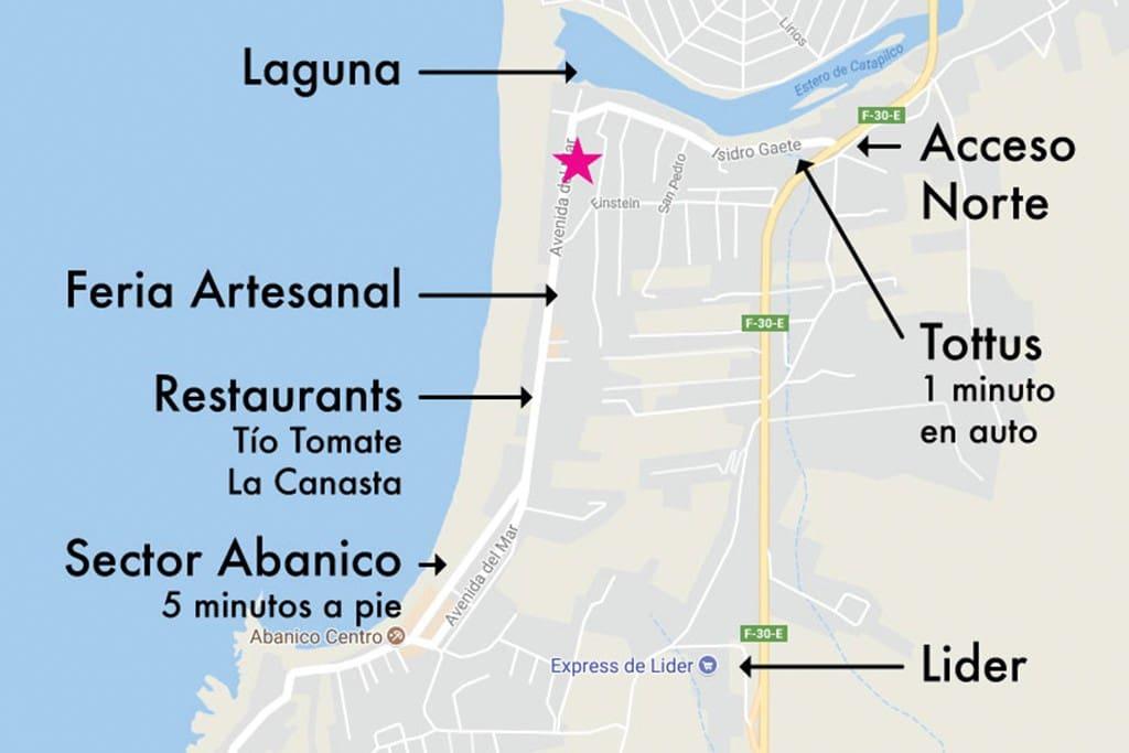 Mapa sector y puntos de interés