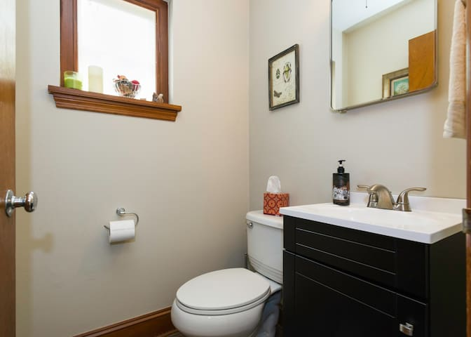 Powder room across from Lotus Guest House for your private use.