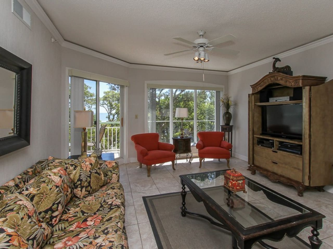 Living Room with Balcony Access at 501 Windsor Place
