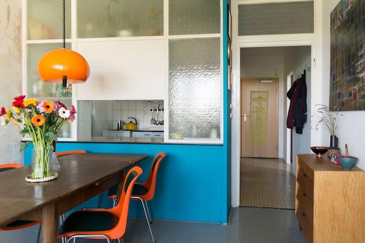 Cozy room in mid century apartment - Leipzig - Apartemen