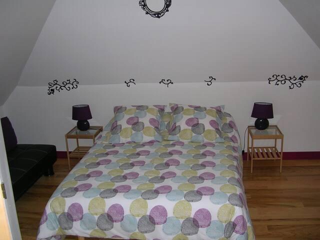 CHEZ PIMLINE Chambre BROTONNE - Saint-Aubin-sur-Quillebeuf - Bed & Breakfast
