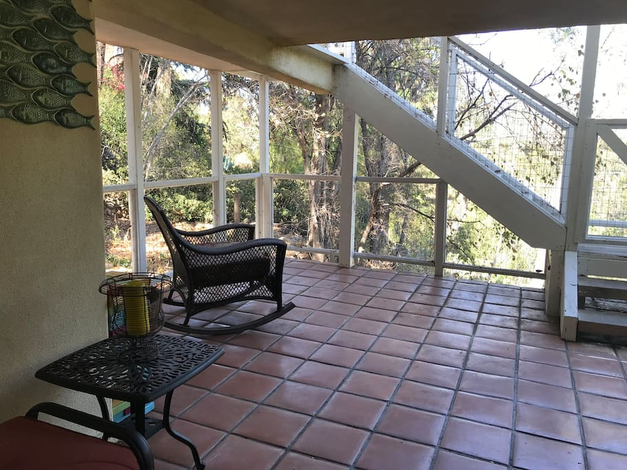 Large private patio, looking out into the canyon